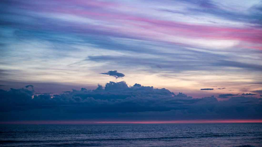 photo of ocean and sky